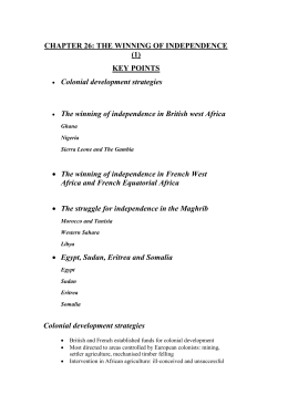 Key points - Chapter 26 Chapter 26 Word Document