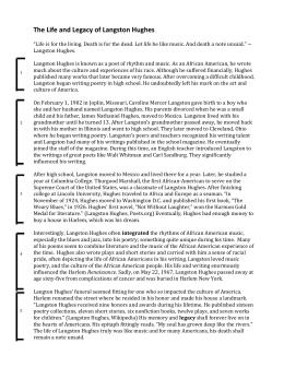 Langston hughes thesis statements