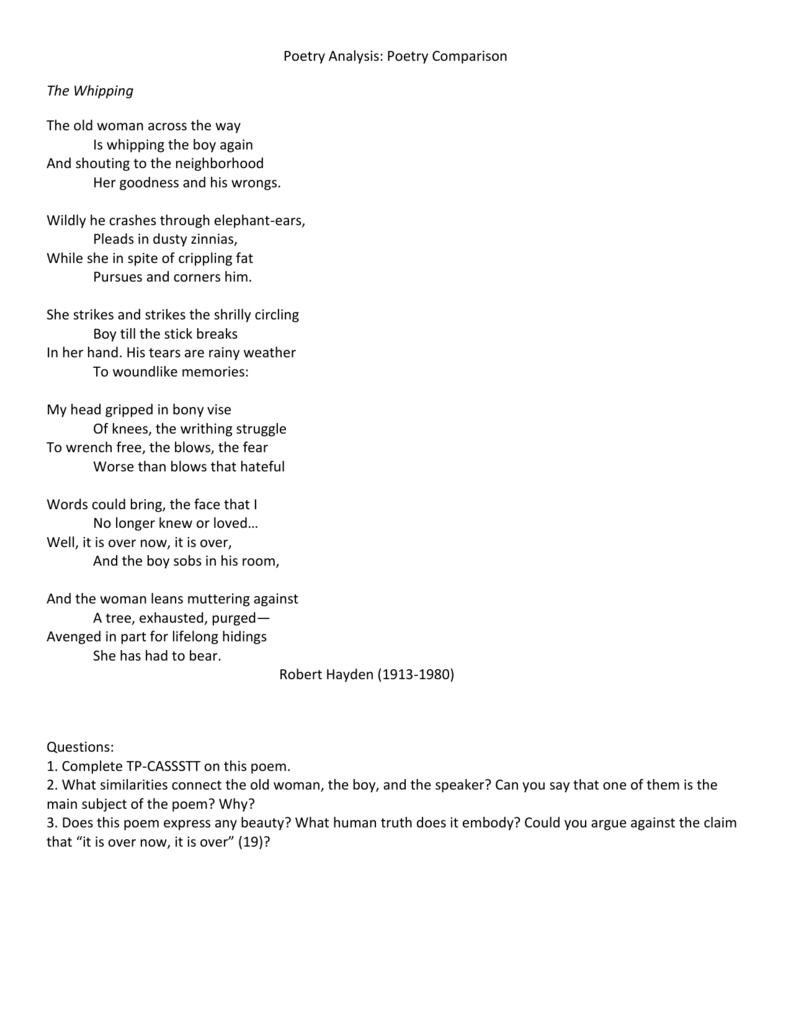 the express poem analysis