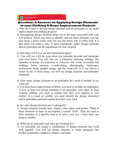 Questions & Answers on Applying Design Elements in your Clothing