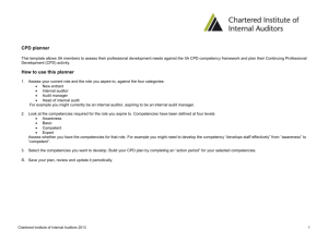 IIA CPD planner - Chartered Institute of Internal Auditors