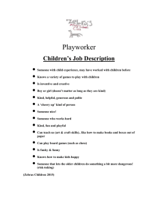 Zebras Children's Job Description 2015