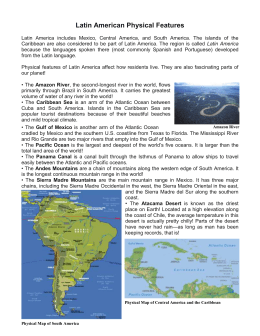 Latin America Physical Features Reading Passage