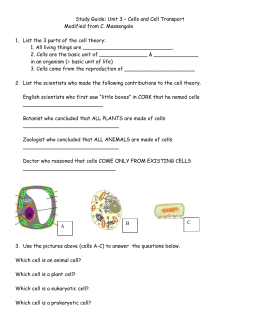 Biology Unit 1 Introduction to Biology STUDY GUIDE