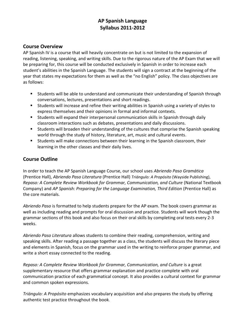 ap spanish literature review books Ap notes, outlines, study guides, vocabulary, practice exams and more miguel león-portilla (literature colonial/crónicas de las indias) [las sociedades en contacto: pluralismo racial y desigualdad económica.