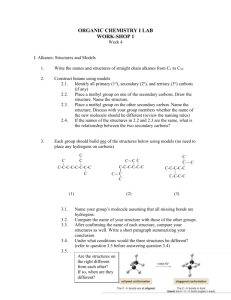 Work-sheet 1 - Chemistry With BT
