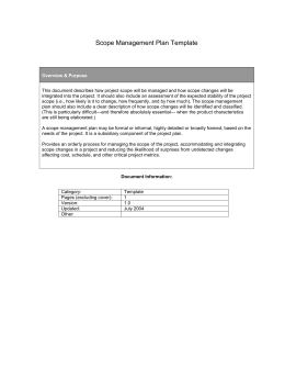 Scope Management Plan Template