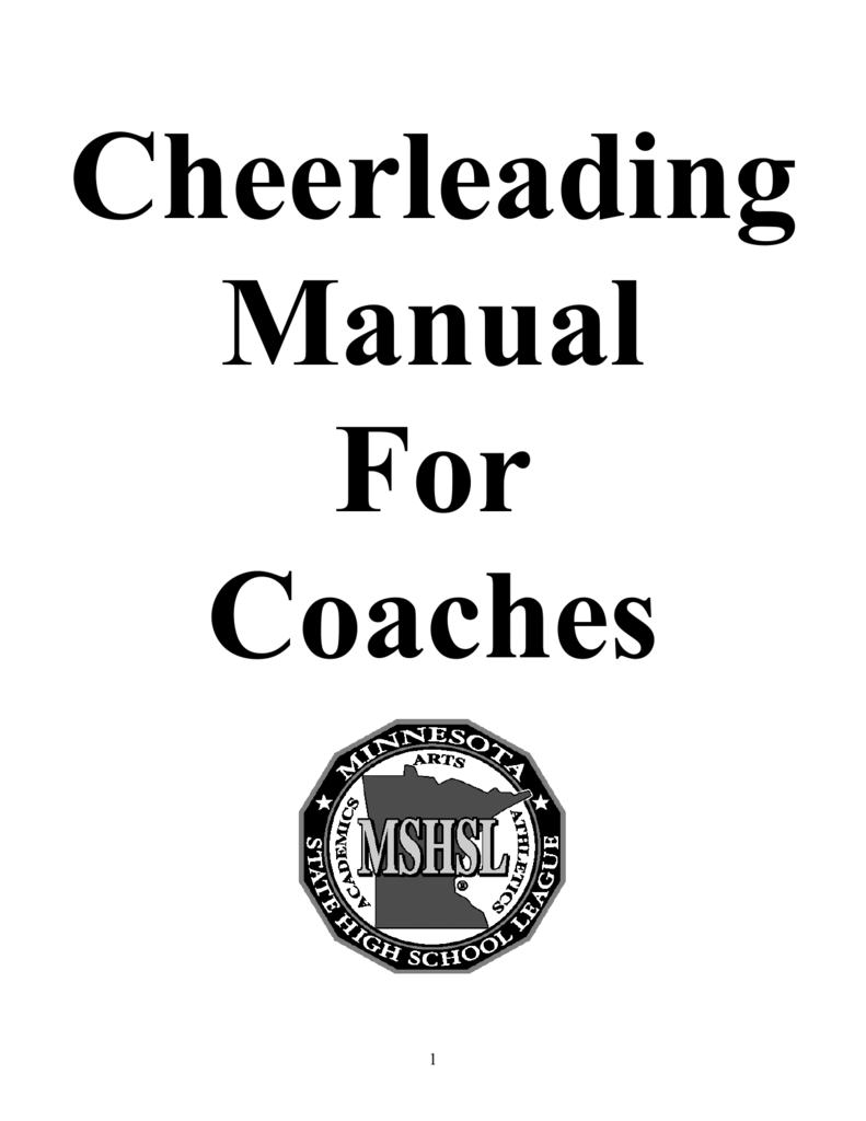 Cheerleading Handbook The Minnesota State High School League