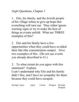 Night Essay Prompts Night Questions Chapter  Thesis Statement In A Narrative Essay also Computer Science Essay Topics  Essay Reflection Paper Examples