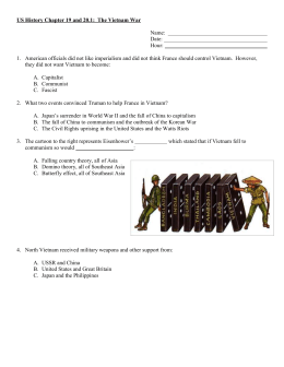 US History Chapter 19: The Vietnam War