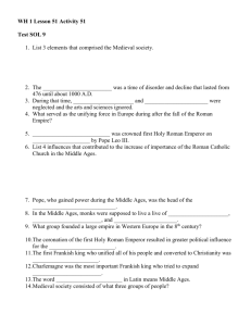 Study Guide – Middle Ages (SOL 9)