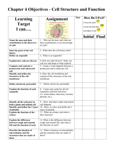 Chapter 4 Learning Targets