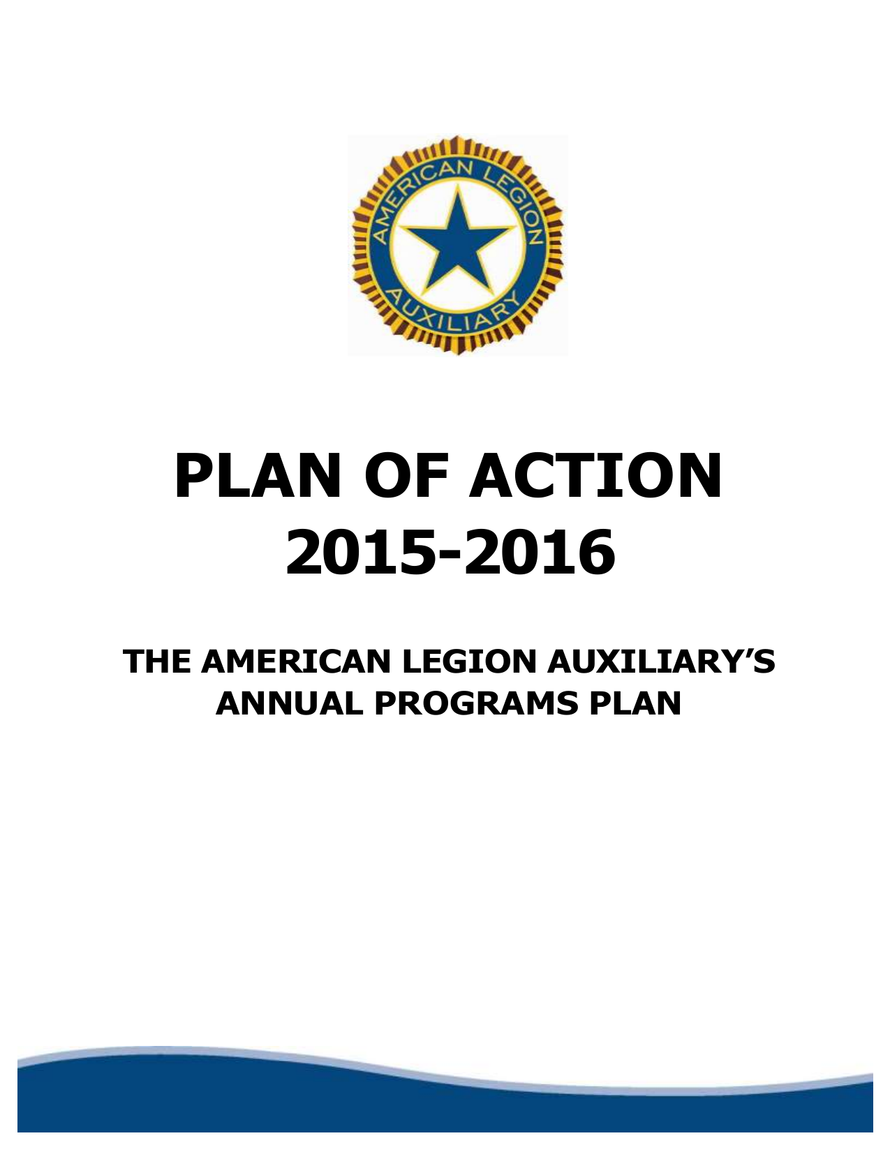 Plan of Action - American Legion Auxiliary
