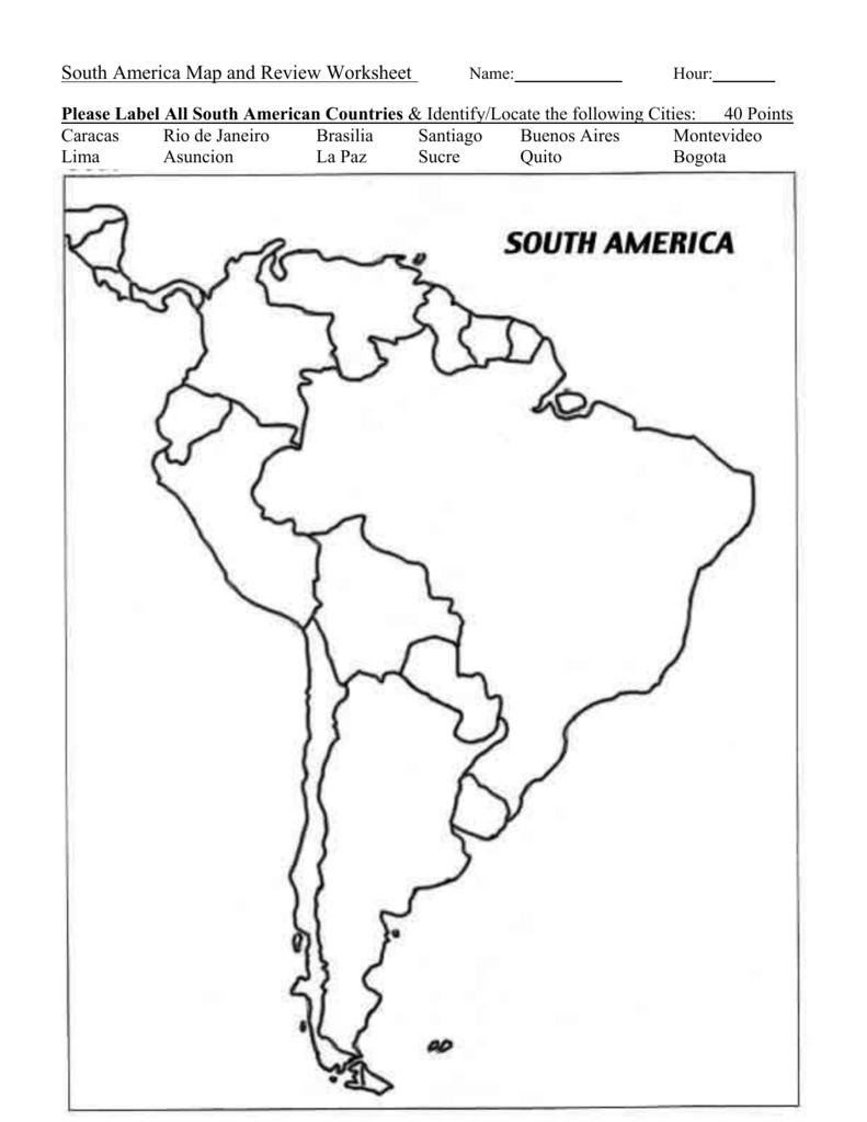 Cbedacdcfdbaepng - South america map quiz worksheet