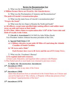 Reconstruction Reading Worksheet Answer Key - A Worksheet Blog