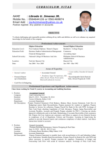 Resume Last Update : Jul 16, 2007