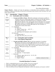 Chapter 3 Syllabus - AP Statistics - devans
