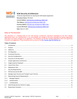 SCM Security Architecture - WS-I