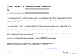 965/2012, PART-SPA: Performance Based Navigation (PBN