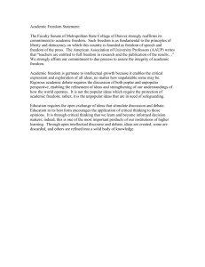 Faculty Senate Statement on Academic Freedom