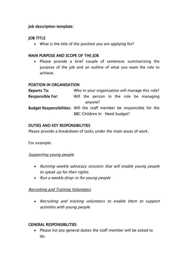 Job Scope Template from s3.studylib.net