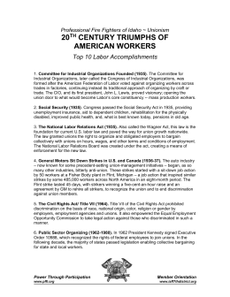 20th Century Triumps of American Workers
