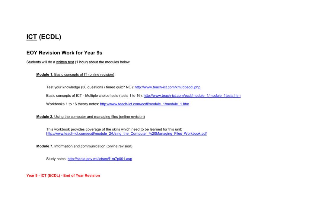 Modules pdf ecdl