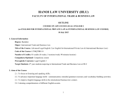 english for international law and international trade law course