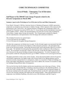 Report of the 2004/05 Code Change Proposals related to the