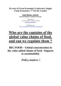 The captains of the global value chains of food