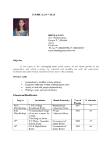 curriculum vitae - Lonestar Alpha Laboratories