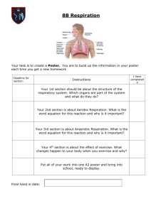 8B Respiration - The Queen Elizabeth Academy