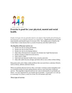 Physical Activity - Town of Stratford