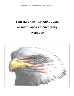 AGR Handbook - Tennessee Military Department
