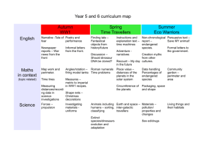 Year 5 and 6 Curriculum Map 2014-15