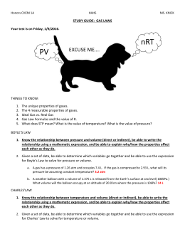 Honors CHEM 1A HAHS MS. KNICK [Type text] [Type text] STUDY