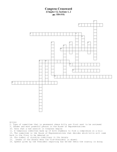 Committee Crossword - Goshen Community Schools