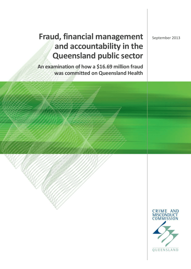Fraud, financial management and accountability in the Queensland