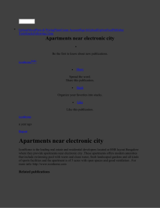 Apartments near electronic city by iconhomz - issuu