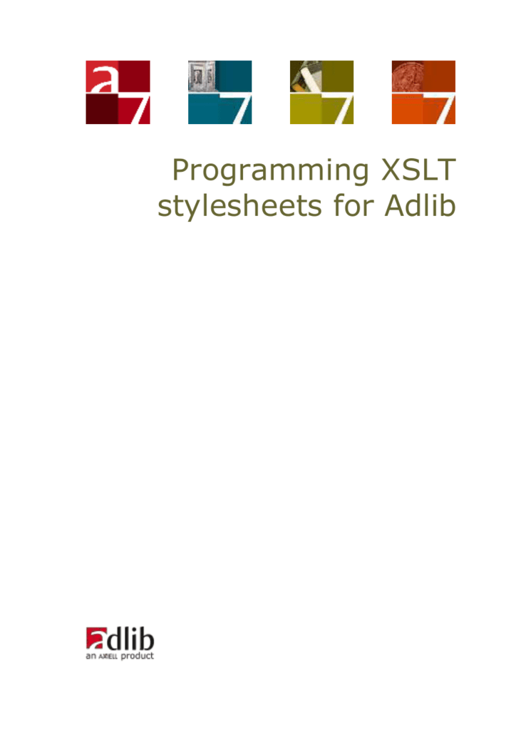 Programming XSLT stylesheets for Adlib