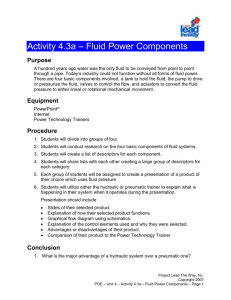 Activity 4.3a - Fluid Power Components