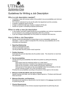 Guidelines for writing a Job Description