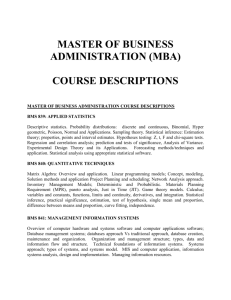 MBA_COURSE_DESCRIPTION