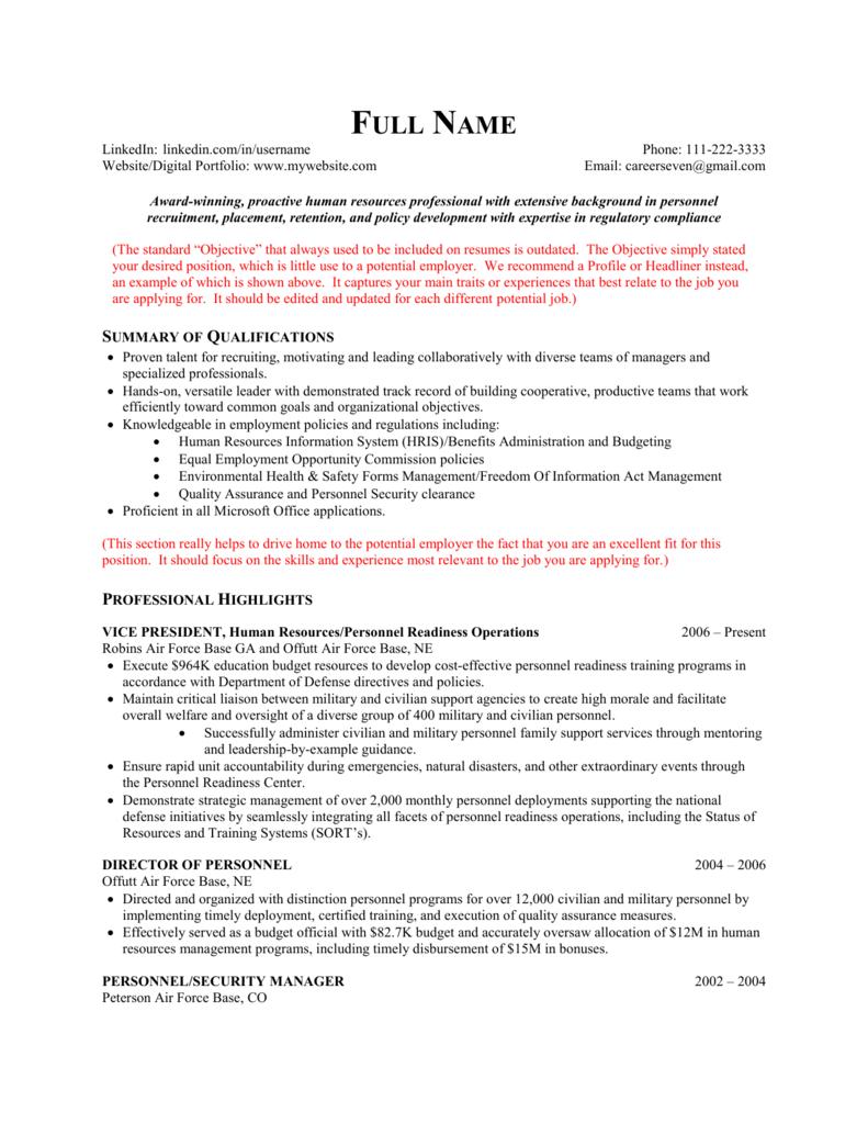 Combination Resume