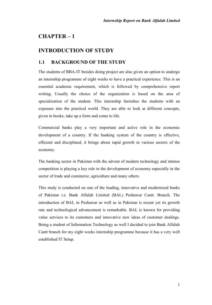 chapter 1 - Internship reports