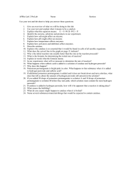 Factors influencing enzyme activity formal lab report