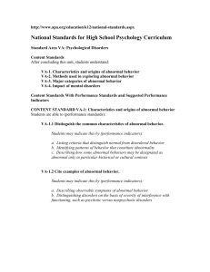 National Standards for High School Psychology Curriculum