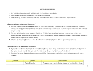 Handout-Abnormal-Mental Disorders Chart