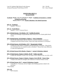AP World HW Sheet 1 Web 2006-7 - Leon M. Goldstein High School