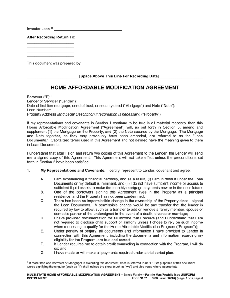 Home Affordable Modification Agreement